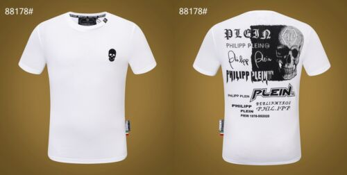 2020 PHILIPP PLEIN Black/&White Skull Men Casual T-shirt P88178 Size M-3XL