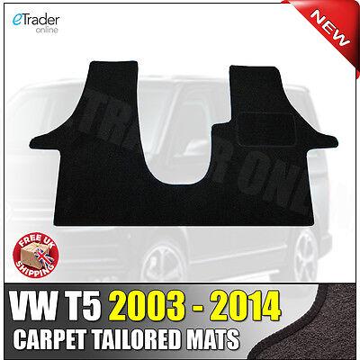 VW Transporter T5 2003-2014 Tailored Black Van Car Floor Mat Carpet 1 Piece