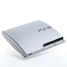 Carbono Silver Ps3 Slim Con Textura De Piel-Full Body Wrap-Autoadhesiva de cubierta