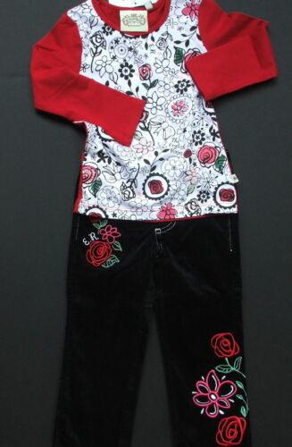 NWT Lipstik ENGLISH ROSES Velvet Jeans SET 2T 4T 14 16