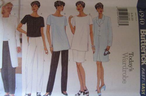 UNCUT Vintage Butterick SEWING Pattern 4940 Jacket Dress Skirt Pants 6-22 FF