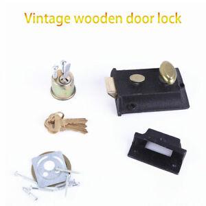 Old-Vintage-Cast-Iron-Home-Bedroom-Rim-Door-Lock-Bathroom-Latch-Knob-Handle