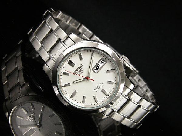 Seiko 5 Automatic Herren Armbanduhr sehen durch hinten snk789k1 UK Verkäufer
