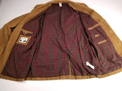 LL Bean Beige Corduroy Flannel Lined Mens 40 Tall… - image 1