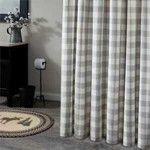 Details About New Shabby Chic Country Farmhouse Buffalo GRAY WHITE Check Fabric Shower Curtain
