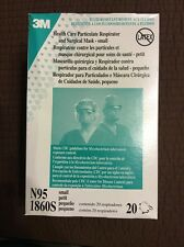 3M Health Care Particulate Respirator and Surgical Mask, N95-1860S, Qty 20-Small
