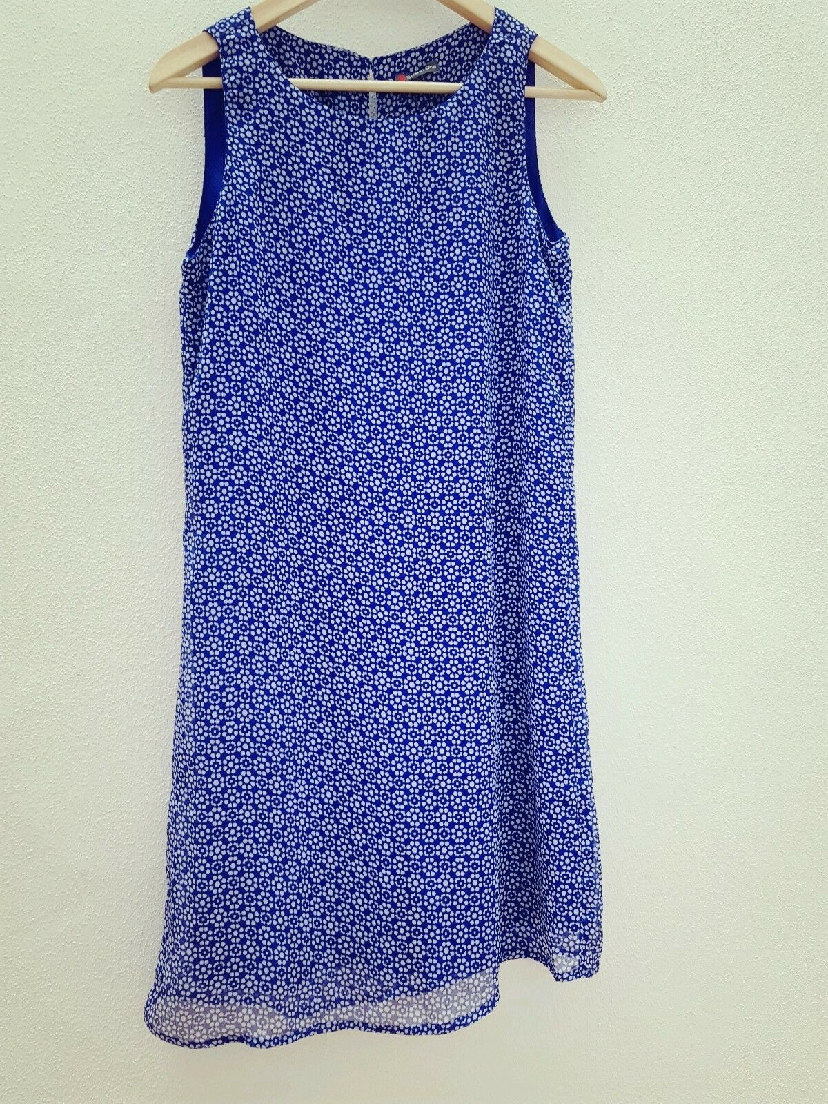 Street one Damen Kleid Longtop blau weiß Gr.34 XS NEU