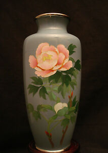 7 Quot H Marked Ando Japanese Silver Wire Cloisonne Vase Ebay