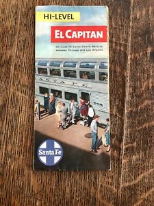 Santa-Fe-Ry-Color-Passenger-Brochure-034-Hi-Level-039-El-Capitan-039-034-1963-36-034-X-8-034
