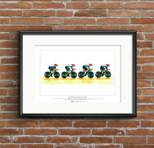 Team GB Men/'s Cycling Pursuit Team 2012 Limited Edition Fine Art Print A3 size