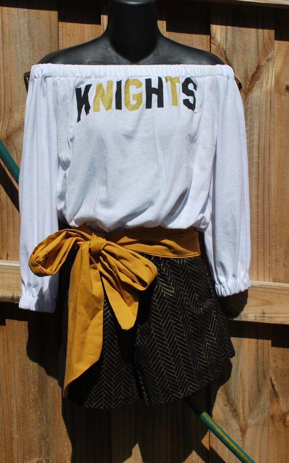 UCF Central Florida Knights Off Shoulder Romper, Jumper, Jumpsuit Sash XS