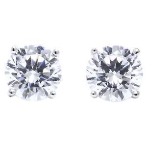 1-75-Ct-Round-Cut-Stud-Lab-Diamond-Earrings-Solid-14k-White-Gold-Screw-Back-Stud