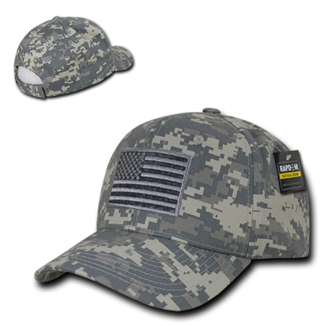ACU Camo USA US American Flag Patch Military Army Tactical Operator Cap Hat b0e03585003