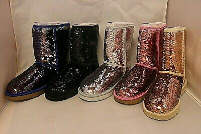 Classic Short Sequin Boot
