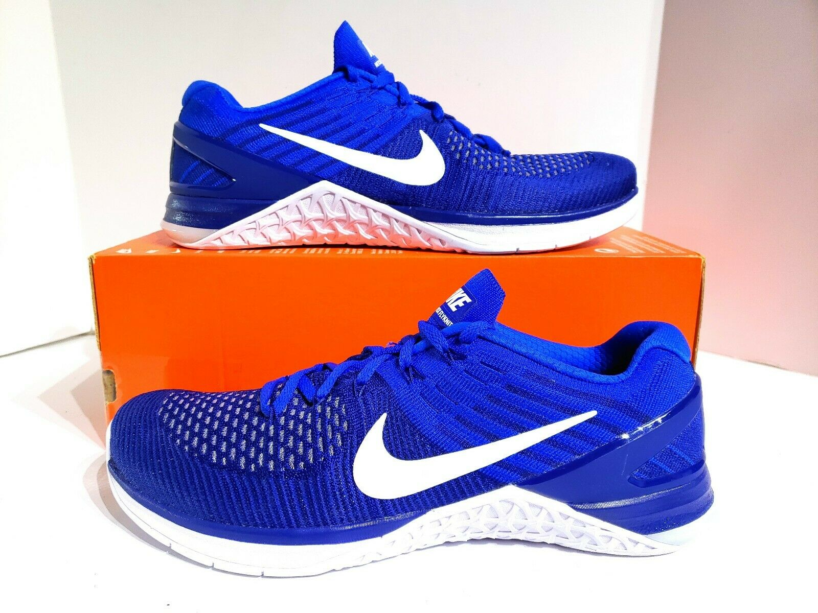 Nike Metcon DSX Flyknit Training shoes Deep Royal bluee White 852930-402 Size 10