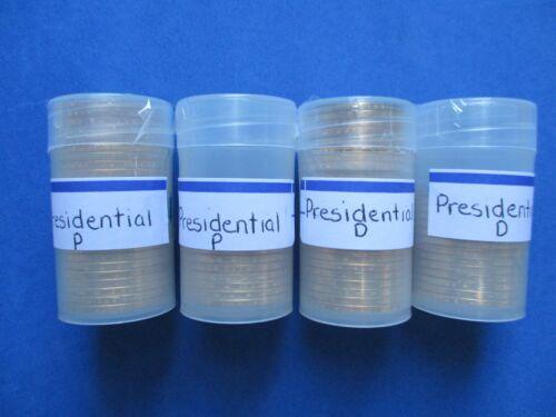 Coins Tubes Presidential Dollars Complete BU Set P/&D 78