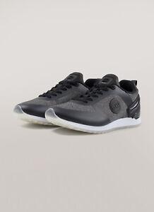 Sneakers-Uomo-Colmar-Travis-Unika-Scarpe-Pelle-Martellata-Nere-Jersey-Nuove