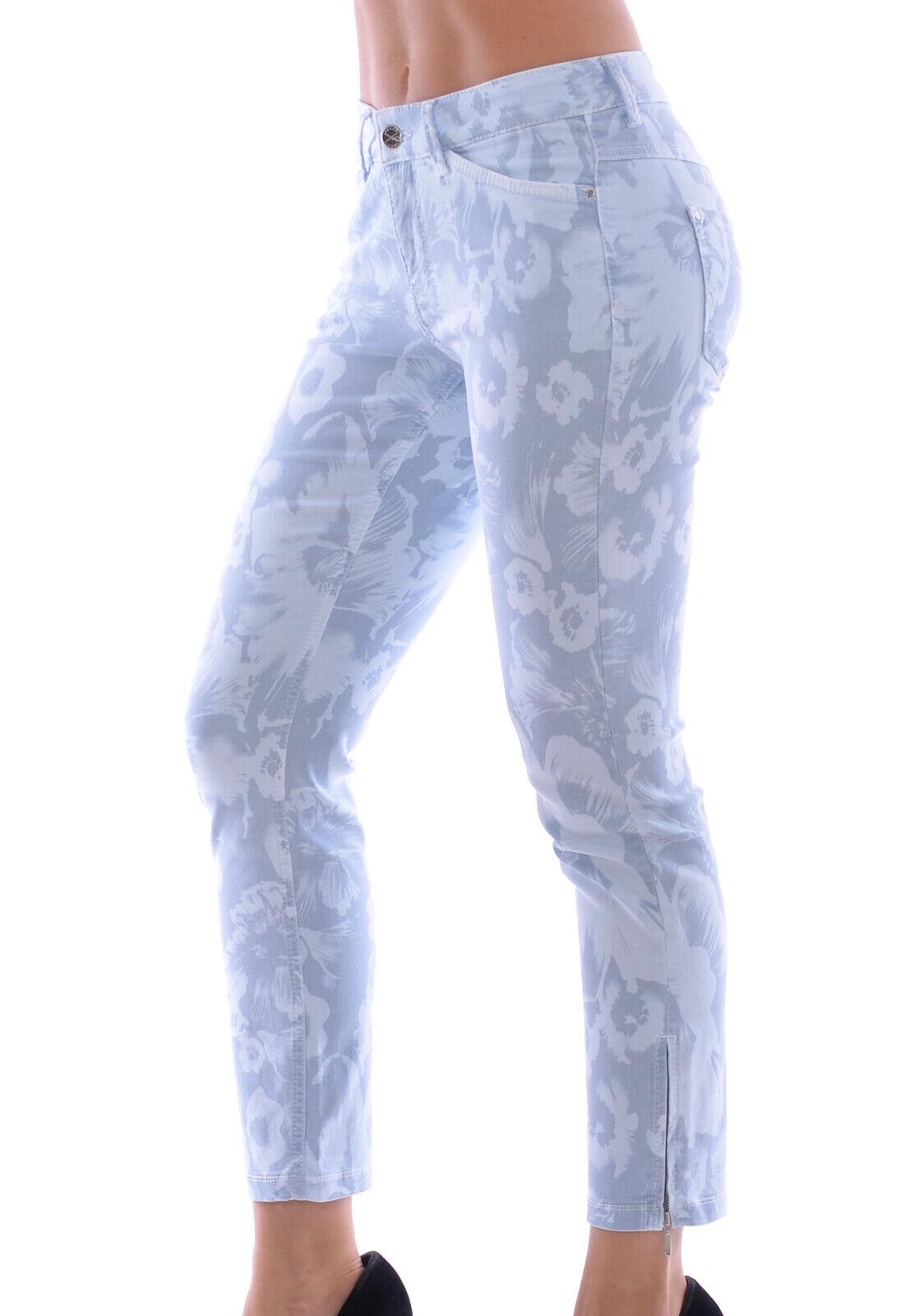MAC Jeans Damen Dream Summer Chic  Stretch Light Blau Flower Gr. 34 36   L27