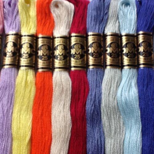 2-56 DMC cross stitch Threads//écheveaux-p.y.o Couleurs Gratuit Pp