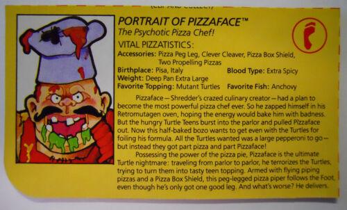 1990 Playmates Teenage Mutant Ninja Turtles Filecard-Pizzaface VINTAGE