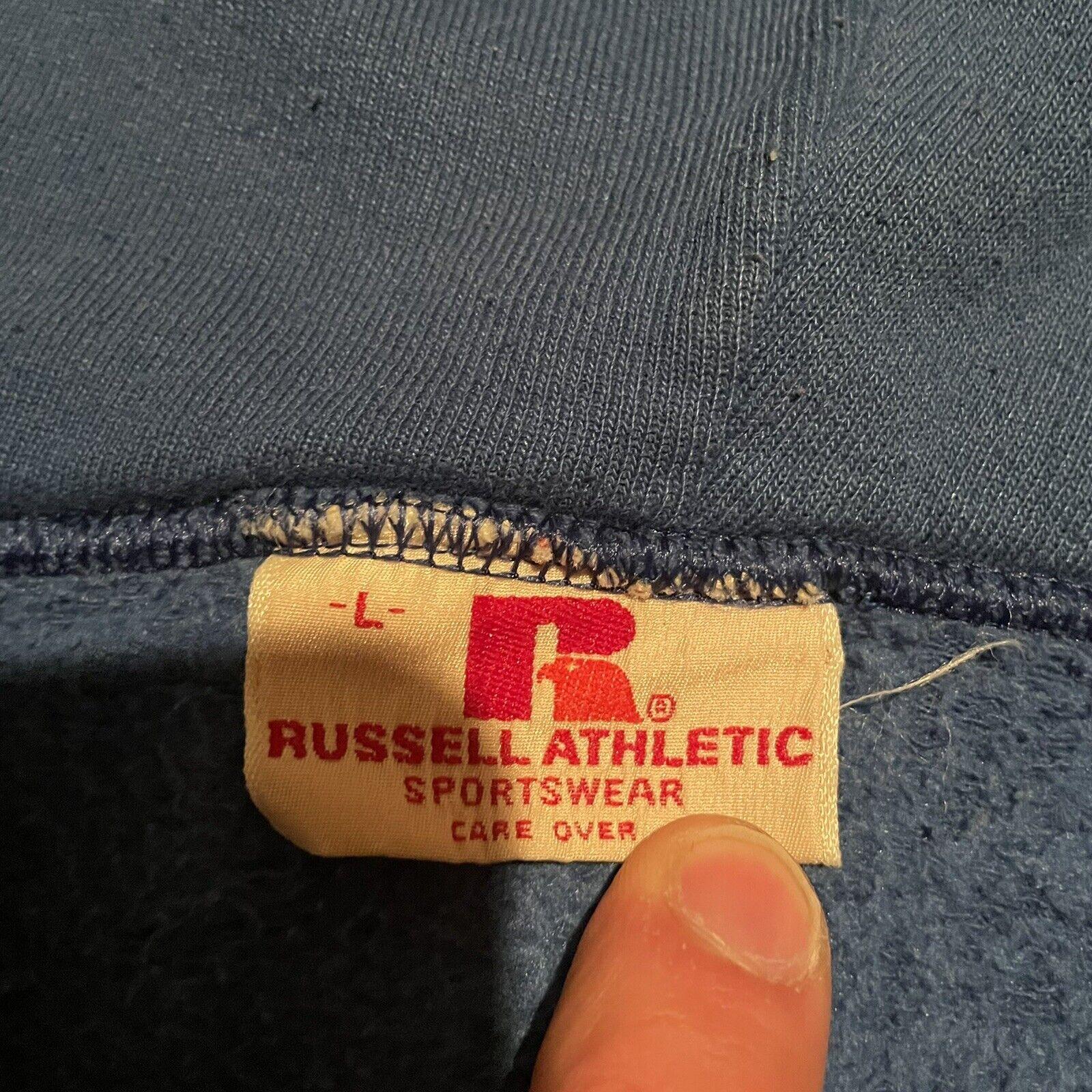 Vintage 70s Russell Athletic Full Zip Up Gray Hoo… - image 3