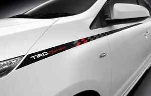 GENUINE TOYOTA CAR ACCESSORIES TRD BOTH SIDE STICKER FOR ALL NEW ...