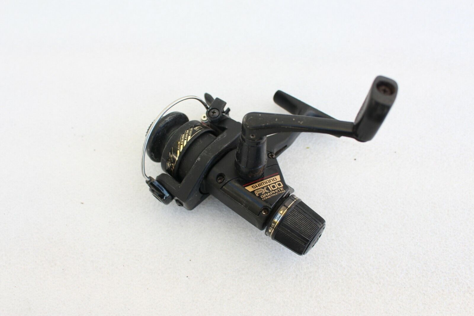 Vintage Shimano FX100 Spinning Fishing Reel Collector Rare FX 100 Works Great