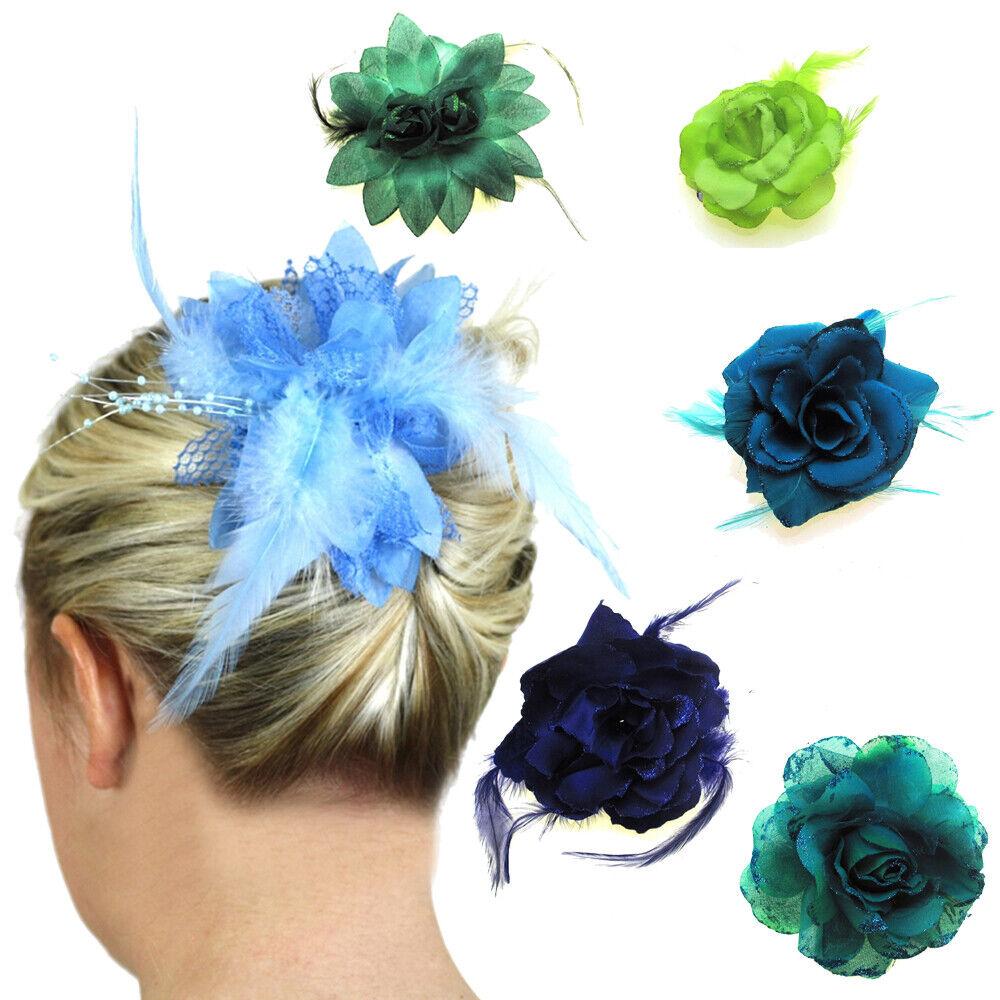 Wedding Hair Flowers Bridal Fascinators Accessories Clips Slides Head Pieces UK