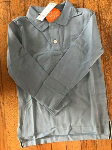 NWT GYMBOREE Long-Sleeve Polo Shirt PLAYPROOF Boys Sz 4 5  7 8  LIGHT BLUE