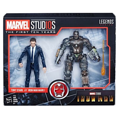 Hasbro Marvel Legends 10th Anniversary Iron Man Tony Stark /& MK1 Set IN-HAND