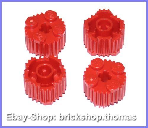 Lego 4 x Riffelstein rund rot 92947 Basic Bricks Round Red NEU // NEW