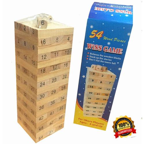 54PCS Jenga Classic Board Game Building Block Interactive Gift Toys Free shippin