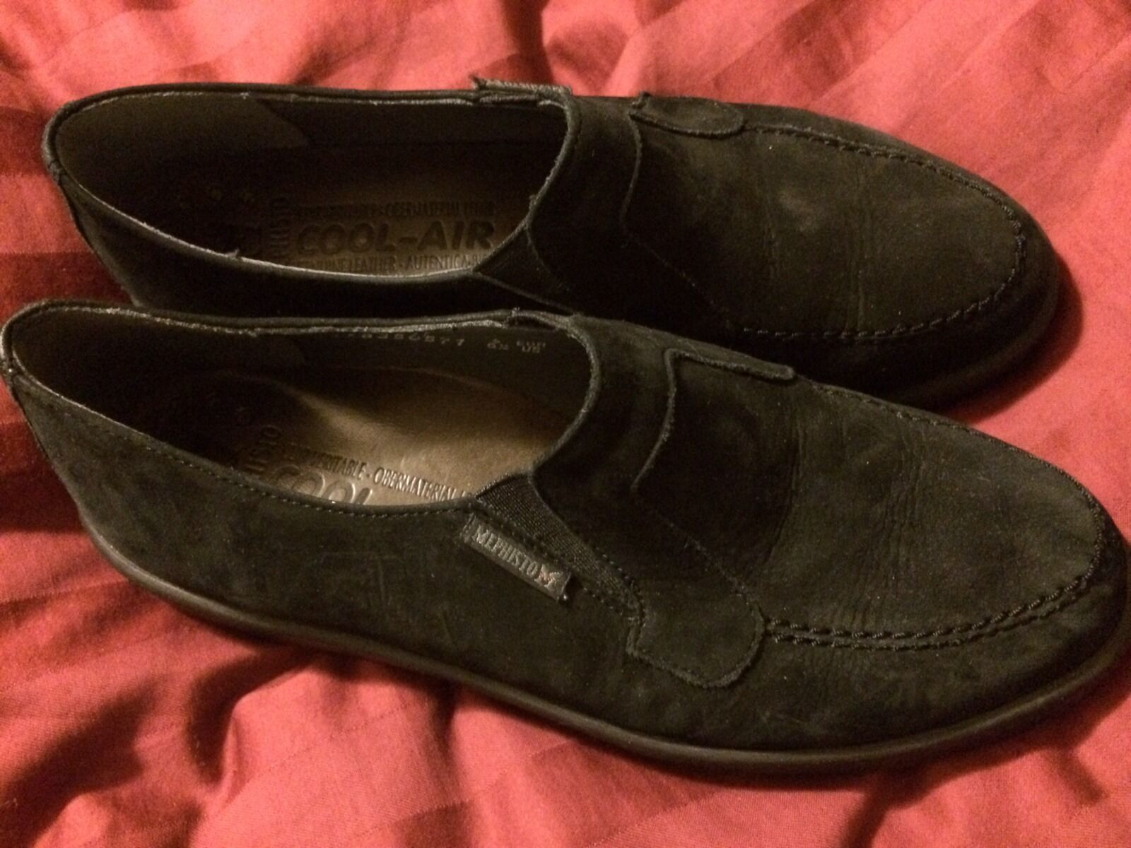 EUC MEPHISTO BLACK BLACK BLACK SLIP ON Womens SIZE US 6.5 M cc1bc5