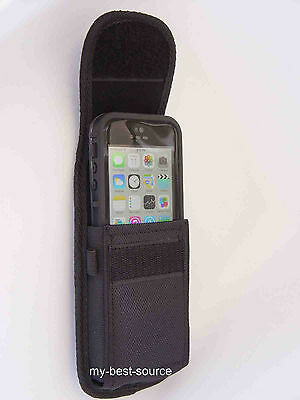 Black Holster Belt/Clip Case/Cover For Lifeproof Fre iPhone 5/5s With Metal Clip