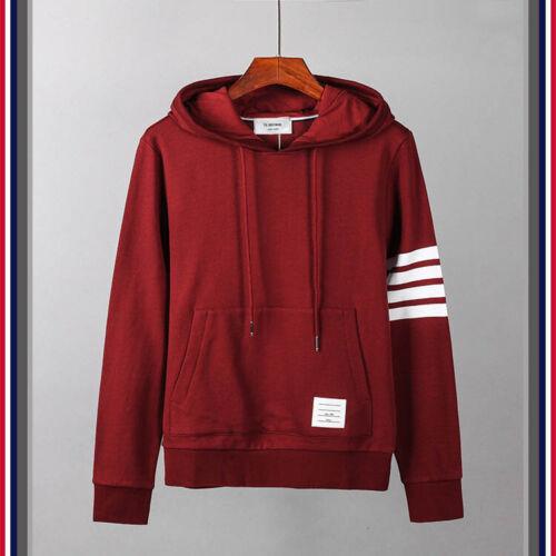 THOM BROWNE Men Women 4 bars hoodie Sweatshirt coat