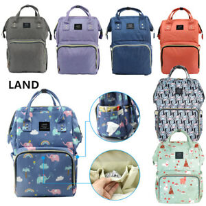 7 Color LAND Mummy Baby Diaper Bag Large Capacity Mom Backpack Baby ... 42c9b8e1324ed