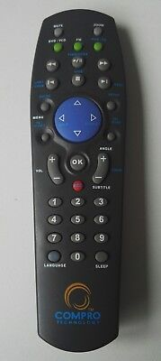 TESTED AUTHENTIC RARE COMPRO TECHNOLOGY VIDEOMATE REMOTE CONTROL DVD VCD PVR TV