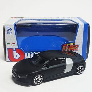 nuevo en caja original Coche modelo Bburago audi r8 rojo o negro 1:43