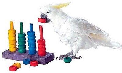 Teacher training parrot toy - african grey, amazon, cockatoo, senegal, conure et