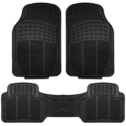 Faux Leather Car Seat Covers for Auto Black W// Heavy Duty Floor Mats