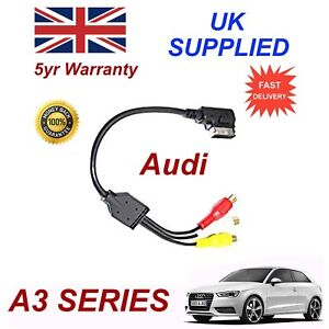 For AUDI A3 4F0051510AA RCA PHONO Analogue Audio Video Cable AMI MMI