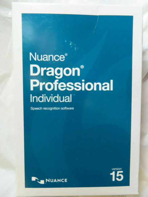 Nuance Dragon Professional Individual 15 FULL VERSION + 64 - New Retail Box