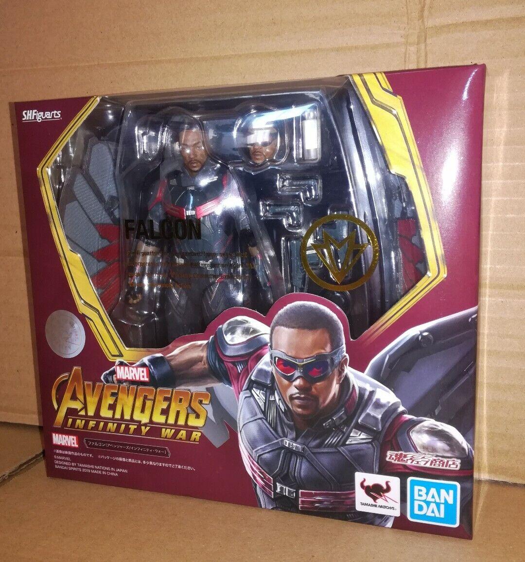 Bandai SH Figuarts Falcon Faucon Avengers Infinity War TamashiWeb ,in stock