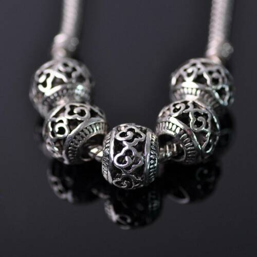 10pcs 10 mm Tibetan Silver LOOSE Metal Beads For EUROPEAN CHARM BRACELET 200-17#