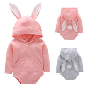 2018-Toddler-Infant-Baby-Girls-Boy-Rabbit-Ear-Hooded-Romper-Jumpsuit-Outfit