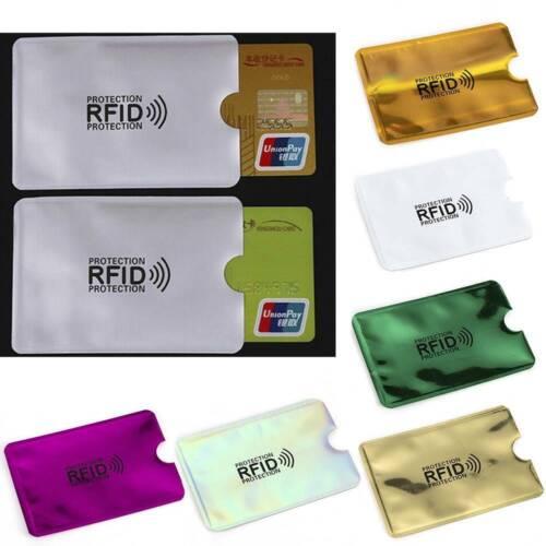 Lots RFID Blocking Sleeve Credit Card Protector Bank Card Holder US for Wallets