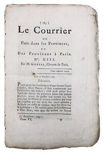 Embrun-en-1789-Gevaudan-Rare-Journal-Revolution-Francaise-Cambrai-Gorsas-Metz