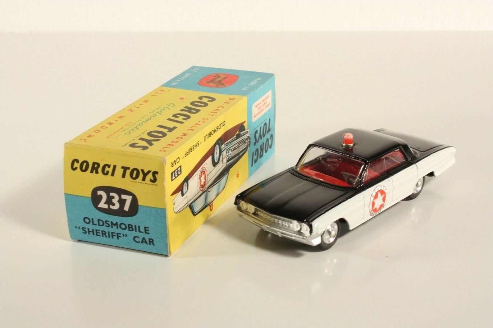 Corgi Spielzeugs 237, Oldsmobile  Sheriff  voiture, Mint in Box                     ab2210