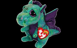 """TY Beanie Boo Cinder Plush Soft Toy Dragon 18/"""" XL 42 cm NEW TAGS"""