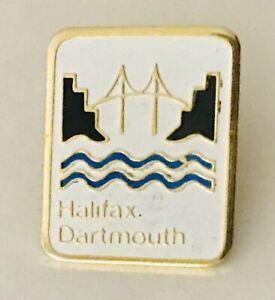 Halifax-Dartmouth-Bridge-Souvenir-Pin-Badge-Rare-Vintage-E6